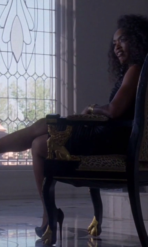 Angela Bassett with Christian Louboutin Bianca Patent Leather Platform Pump in American Horror Story