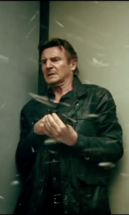 Liam Neeson with John Lobb Calf Belt in Taken 3