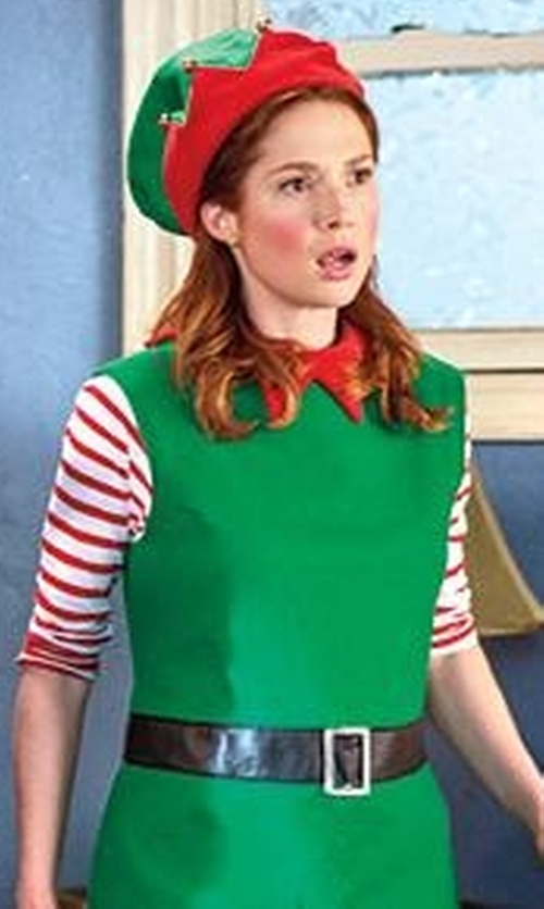 Ellie Kemper with California Costumes Women's Santa's Helper Costumes in Unbreakable Kimmy Schmidt
