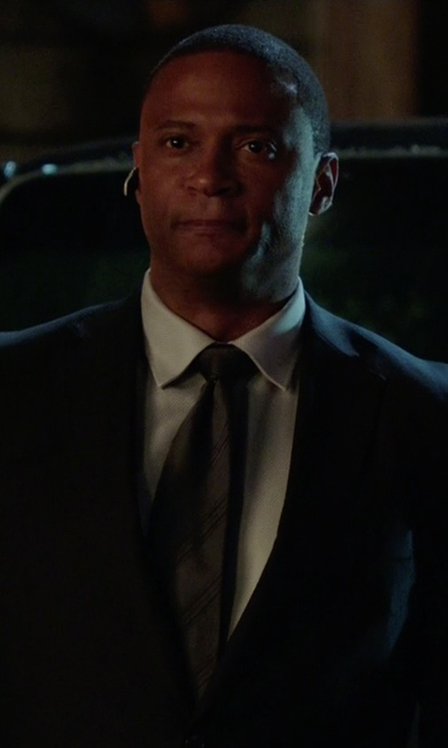 David Ramsey with Marc Anthony Striped Tie in Arrow