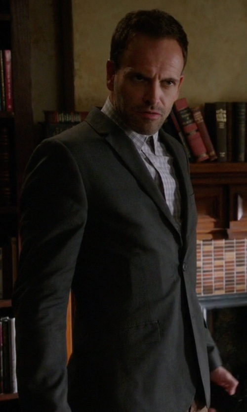 Jonny Lee Miller with Hugo Virgin Wool Sport Coat in Elementary