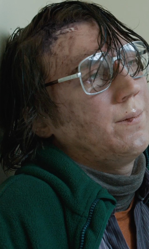 Paul Dano with Lands' End Men's Sherpa Fleece Jacket in Prisoners
