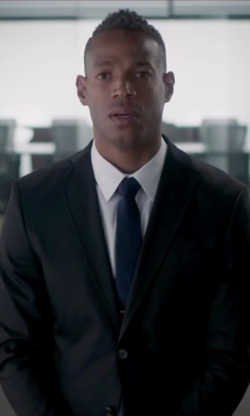 Marlon Wayans with Ralph Lauren Anthony Two-Button Suit in Fifty Shades of Black