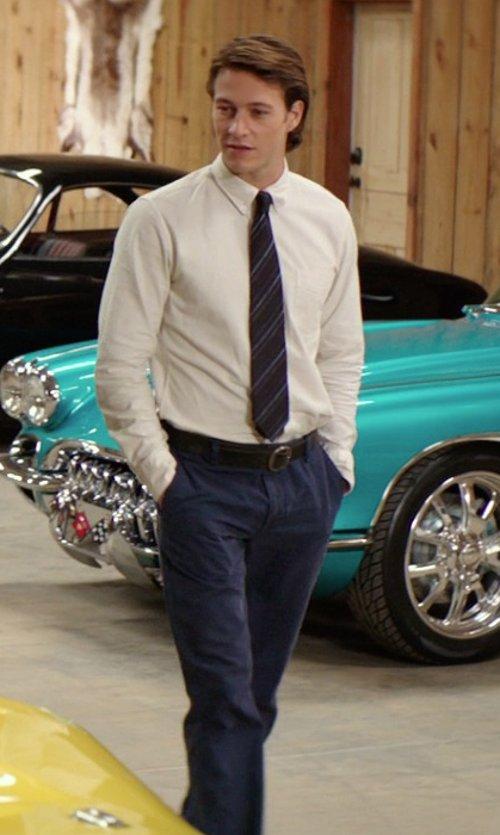 Luke Bracey with Lauren Ralph Lauren Slim Fit Patterned Dress Pants in The Best of Me