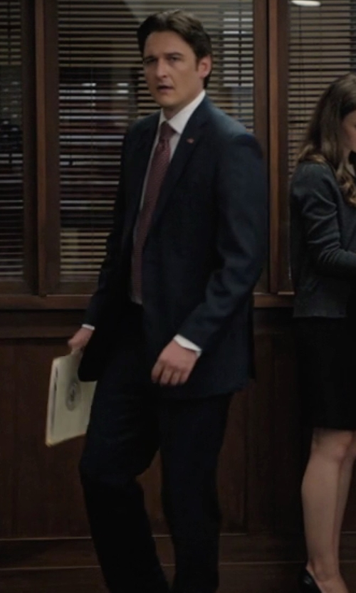 Toby Leonard Moore with Tonello Two Piece Suit in Billions