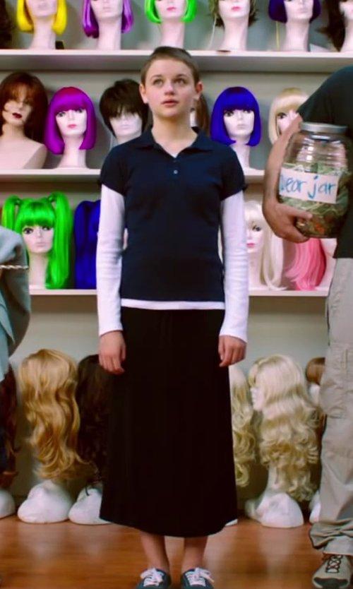 Joey King with Dickies Girls' School Uniform Short-Sleeve Interlock Polo in Wish I Was Here