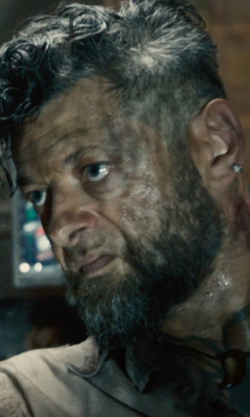 Andy Serkis with Inblue Stainless Steel Wolf Teeth Pendant Necklace in Avengers: Age of Ultron