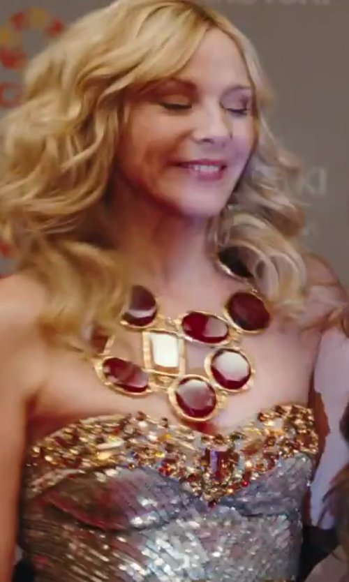 Kim Cattrall with Matthew Williamson Futuristic Sequin Cocktail Dress in Sex and the City 2