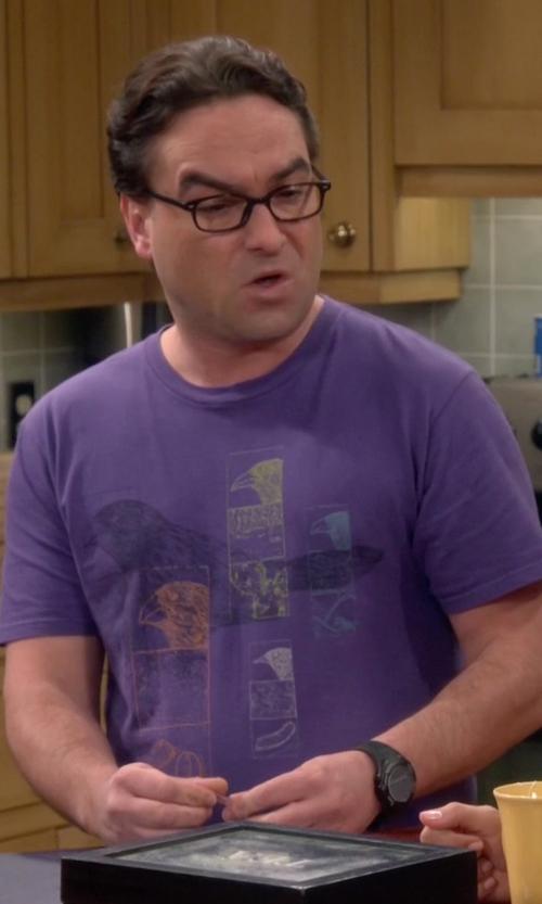 Johnny Galecki with Puma Black Plastic Digital Dial Watch in The Big Bang Theory