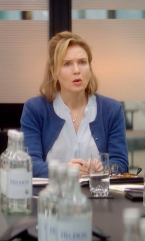 Renée Zellweger with Kerisma Cobalt Cropped Cardigan in Bridget Jones's Baby