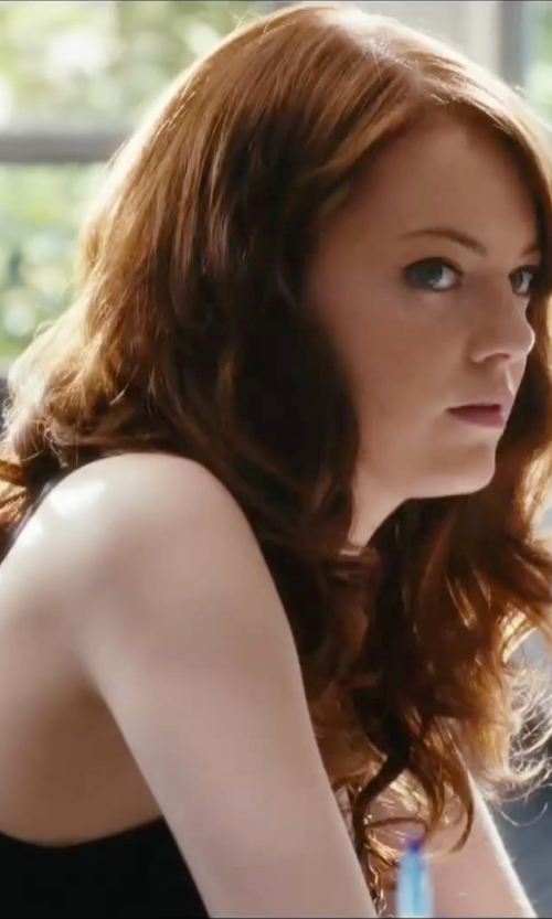 Emma Stone with Marc Cain Tank Top in Easy A