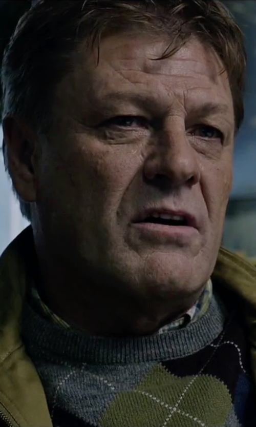 Sean Bean with Dockers Crew Neck Sweater in The Martian