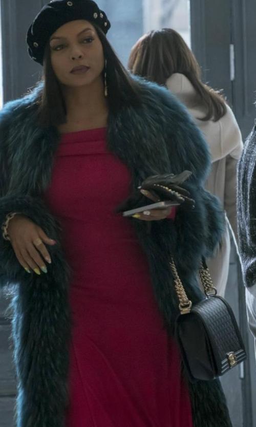 Taraji P. Henson with Chanel New Medium Boy Bag in Empire