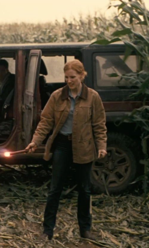 Jessica Chastain with Sam Edelman Malone Distressed Suede Booties in Interstellar