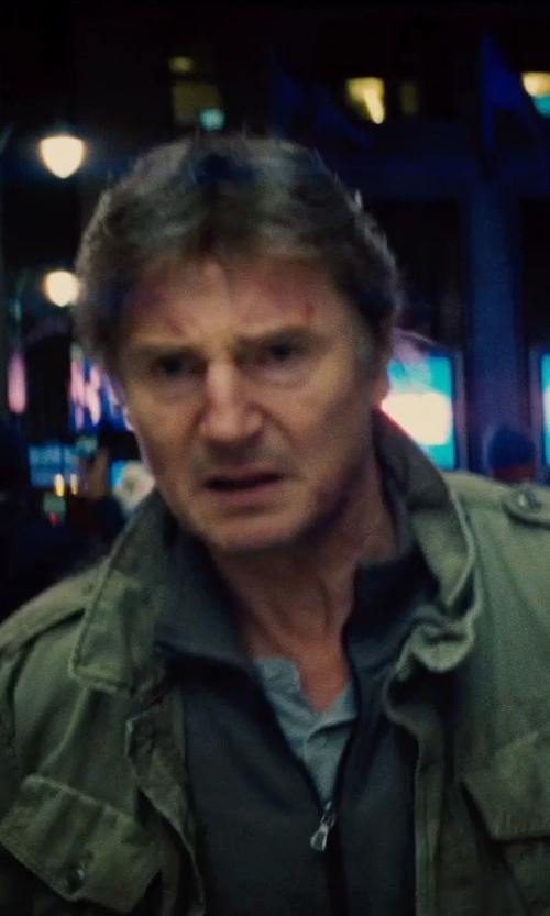 Liam Neeson with Vince Jersey Long-Sleeve Henley in Run All Night