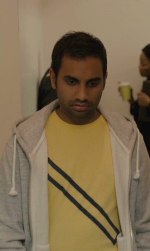 Aziz Ansari with Polo Ralph Lauren Full-Zip Classic Fleece Hoodie in Master of None