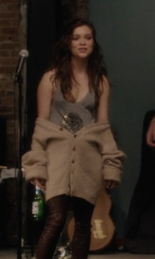 Sophie Cookson with MSGM Knitted Cardigan in Gypsy