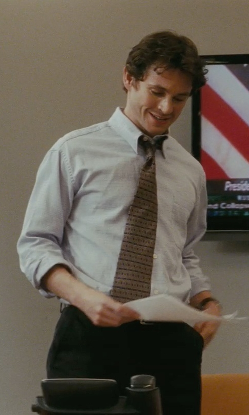Hugh Dancy with Ermenegildo Zegna Twill Dress Shirt in Confessions of a Shopaholic