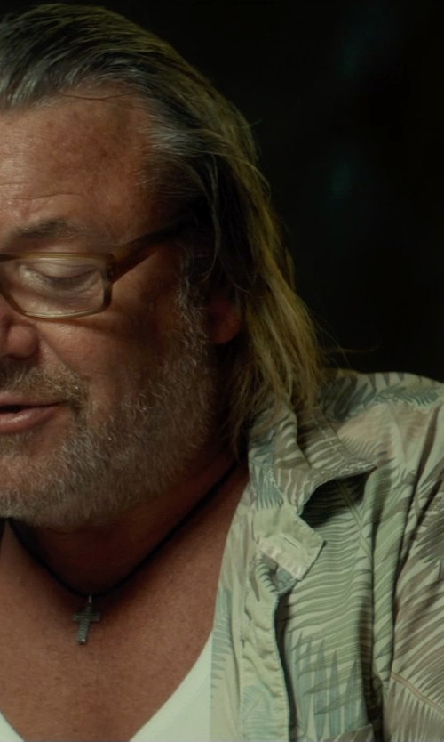 Ray Winstone with Tommy Bahama Serenity Palms Camp Shirt in The Gunman