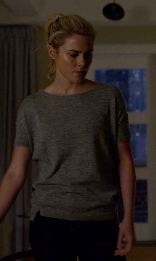 Rachael Taylor with Alexander Wang Heather Linen Crew Neck Tee in Jessica Jones