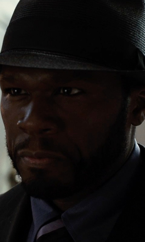 50 Cent with Ralph Lauren Striped Silk Repp Tie in Southpaw
