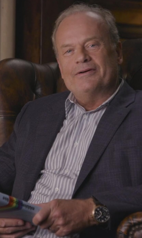 Kelsey Grammer with Boss Hugo Boss Jaiden Slim-Fit Track-Stripe Dress Shirt in Chelsea