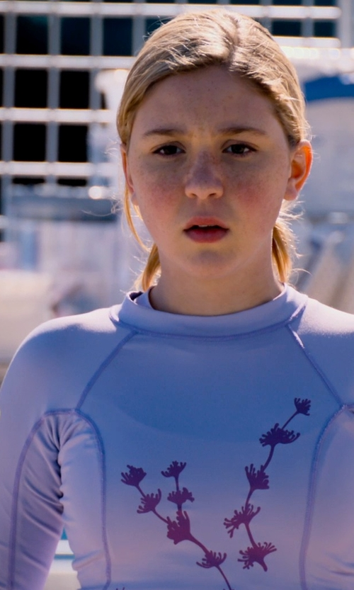 Cozi Zuehlsdorff with Tuga Sunwear Women's UPF 50+ UV Sun Protective Long Sleeve Rashguard Top in Dolphin Tale 2