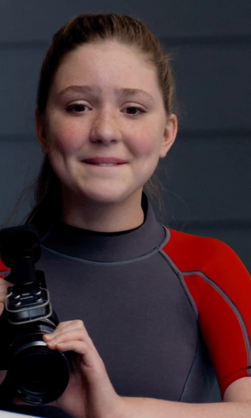 Cozi Zuehlsdorff with Ocean Tec Ocean Tec - Custom Made Junior Short Sleeve Rashguard (Cozi Zuehlsdorff) in Dolphin Tale 2