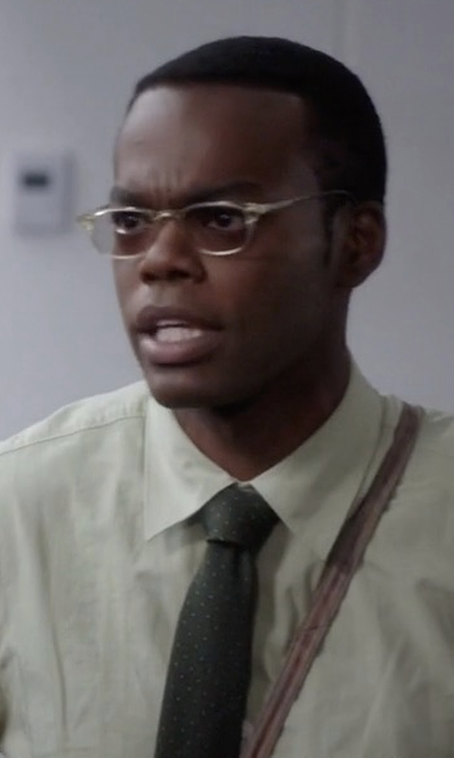 William Jackson Harper with Tommy Hilfiger Pindot Logo Tie in The Good Place