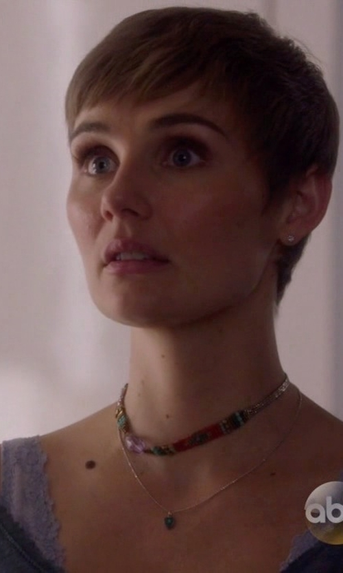Clare Bowen with Urban Outfitters Beaded Choker Necklace in Nashville