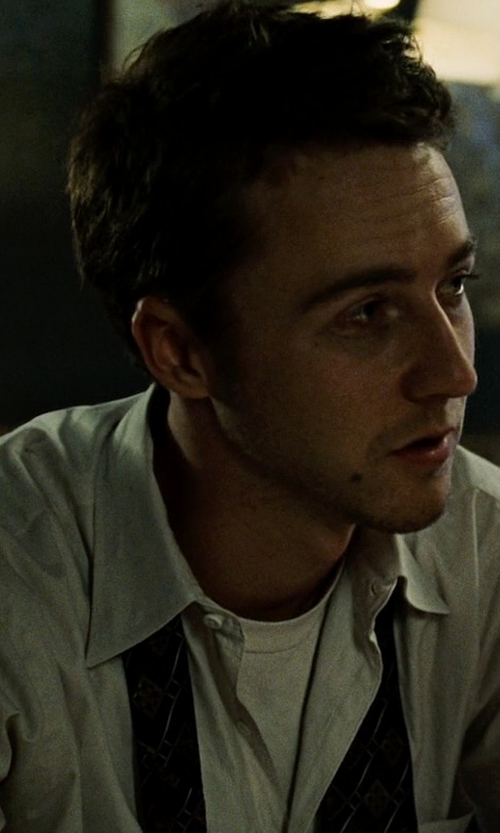 Edward Norton with Boss Hugo Boss 'Jameson' Slim Fit Tuxedo Shirt in Fight Club