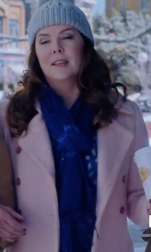 Lauren Graham with Guess (Altered) Double Breasted Bouclé Cutaway Coat in Gilmore Girls: A Year in the Life