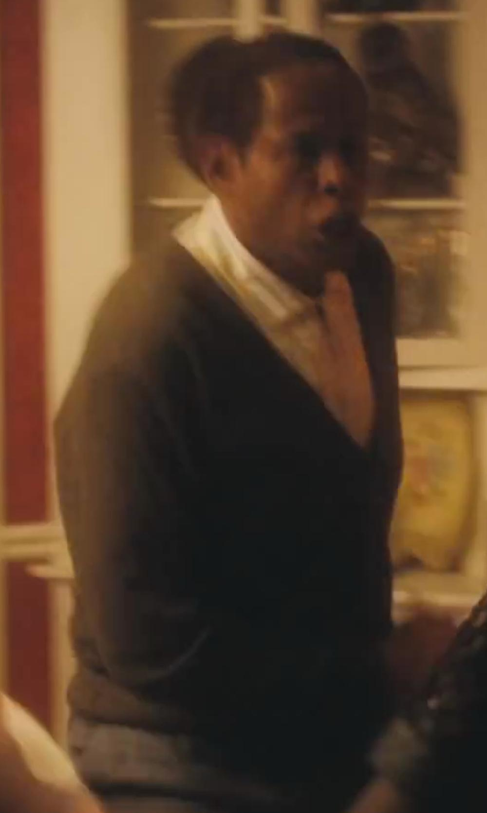Forest Whitaker with Neiman Marcus Cashmere V-Neck Cardigan in Lee Daniels' The Butler