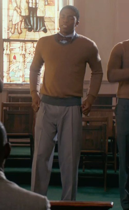 Chadwick Boseman with M.Nii Stringer Trouser in Get On Up