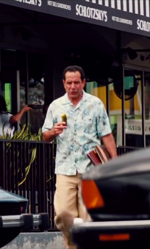 Tony Shalhoub with Scotch & Soda Hawaiian Print Shortsleeve Shirt in Pain & Gain