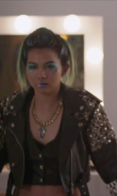 Hayley Kiyoko with CleverSilver Sterling Silver Pendant in Jem and the Holograms