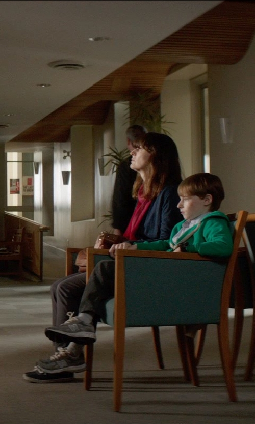 Rosemarie DeWitt with Babaton 'Declan' Open Front Sweater in Poltergeist