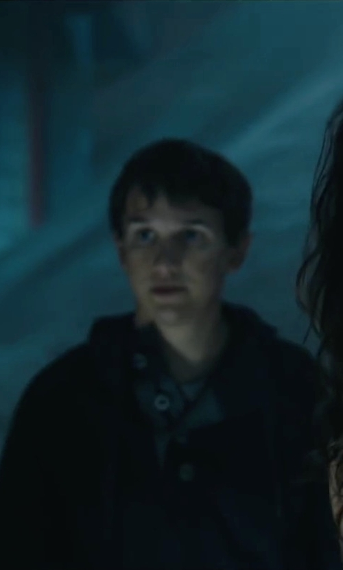 Bryce Romero with Calvin Klein Jeans Garment Dye Mixed Media Hoodie in Maze Runner: The Scorch Trials
