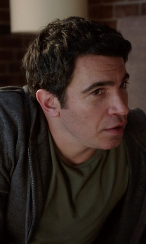 Chris Messina with Boss Hugo Boss Zipped Hoodie in The Mindy Project
