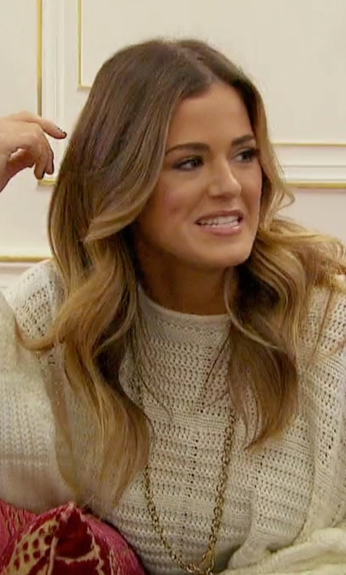 JoJo Fletcher with House of Harlow 1960 X Revolve Quinn Sweater in The Bachelorette