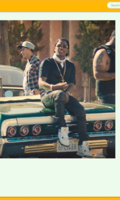 ASAP Rocky with Naked & Famous Denim Denim Skinny Guy Selvedge Jeans in Dope