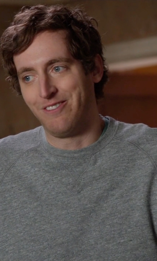 Thomas Middleditch with Alternative Jaspe Crew Neck Sweater in Silicon Valley