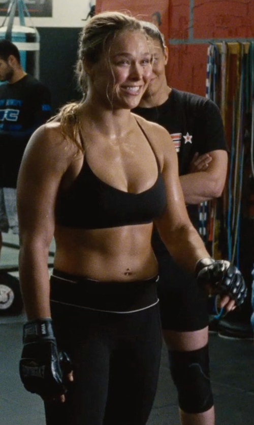 Ronda Rousey with Nike 'Legend 2.0 Poly' Leggings in Entourage
