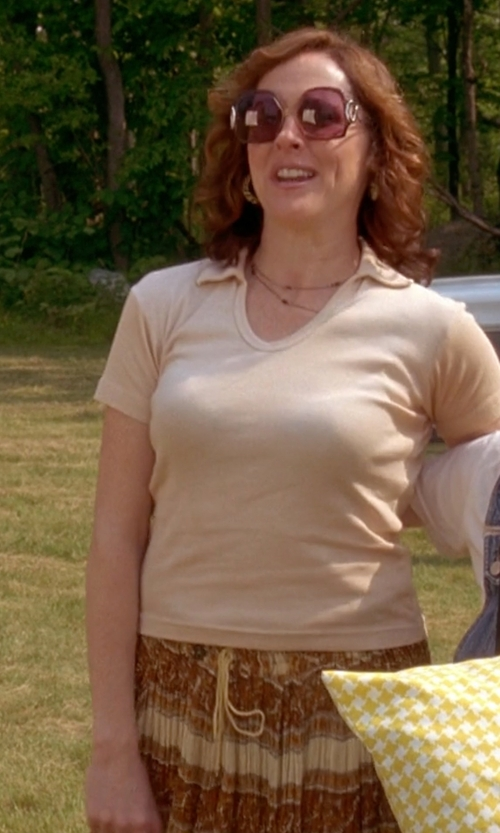 Molly Shannon with Out on a Limb Tribal Handmade Maxi Skirt in Wet Hot American Summer