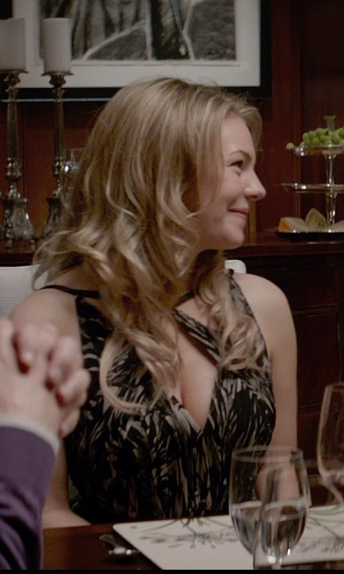 Eloise Mumford with Jason Wu Print Dress in Fifty Shades of Grey