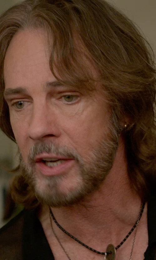 Rick Springfield with Fortune Jewelry & Healing Beauty Guatama Buddha Amulet Necklace in Ricki and the Flash