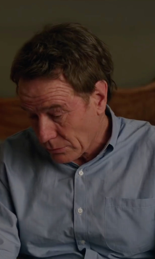 Bryan Cranston with Armani Collezioni Modern Fit Micro Rope-Print Dress Shirt in Why Him?