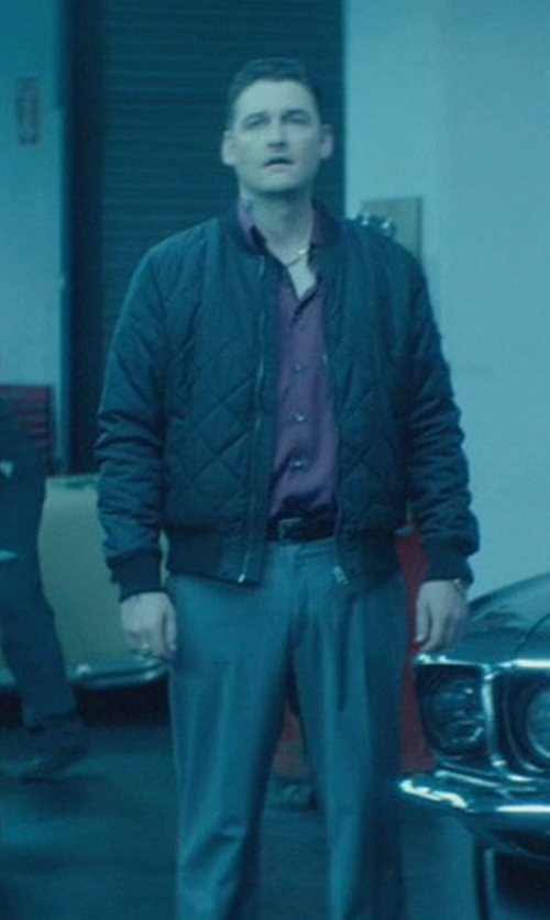 Toby Leonard Moore with Burberry London Padded Bomber Jacket in John Wick