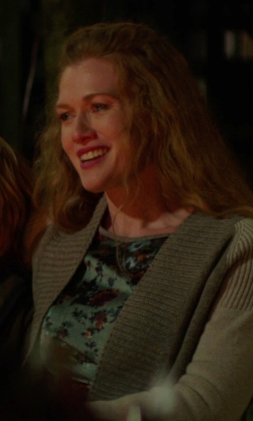 Mireille Enos with Halogen Open Front Long Cardigan in If I Stay