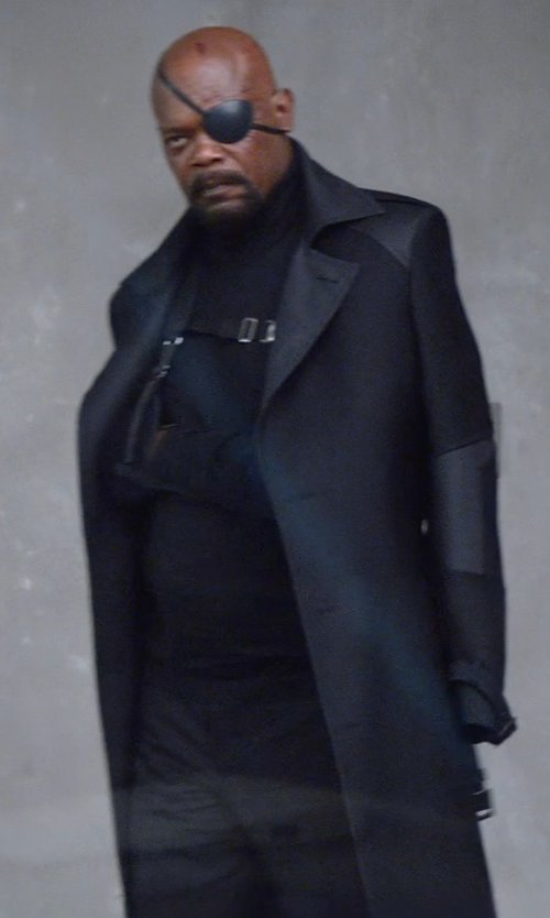 Samuel L. Jackson with Cremieux Travel Smart Dress Pants in Captain America: The Winter Soldier